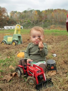 tucker on the farm w bulldozer