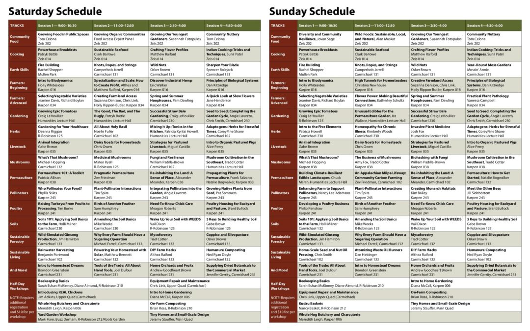 Final Schedule for the 24th Annual OGS Spring Conference