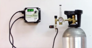 CO2 Tank attached to a digital controller
