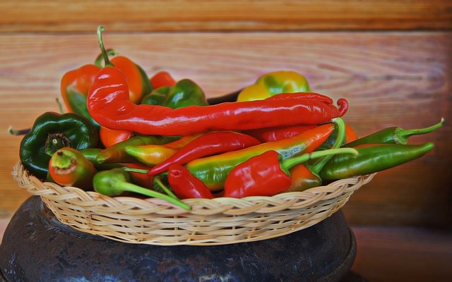 Hot peppers from Patchwork Urban Farms