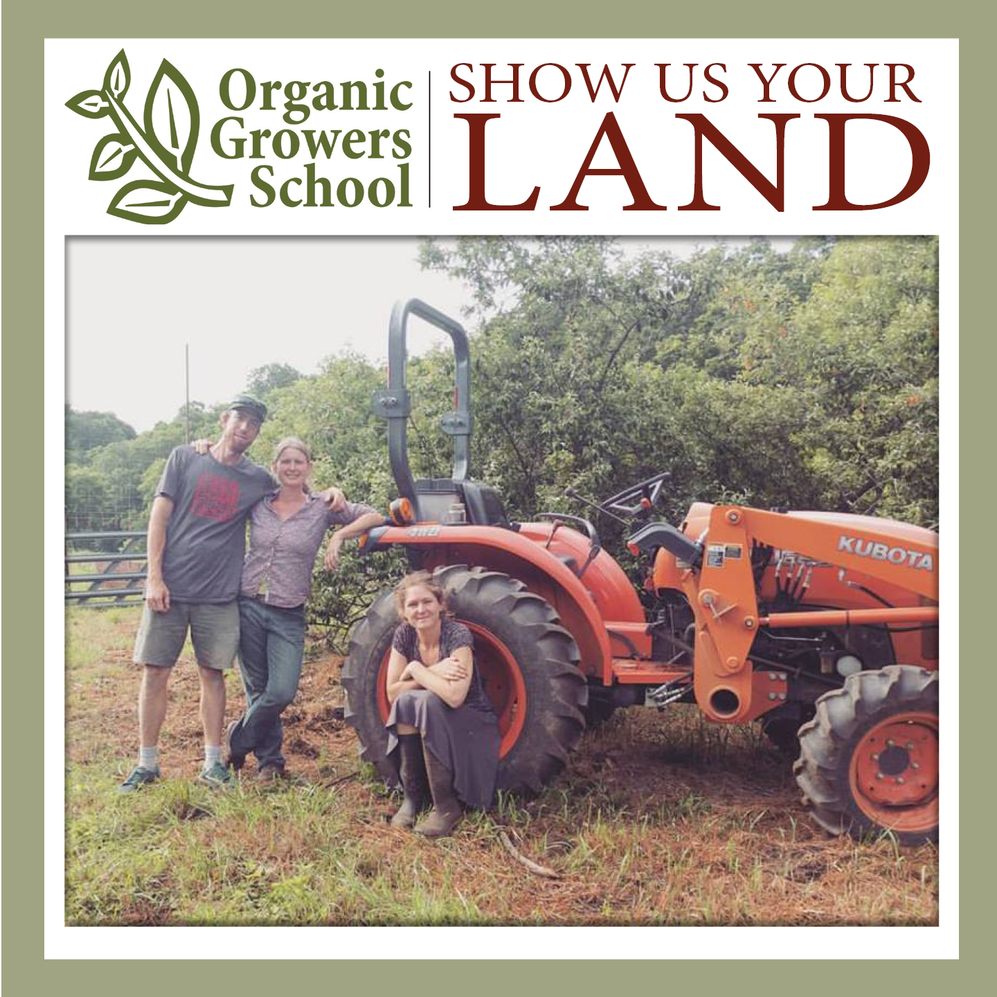 show us your land tractor and farmers